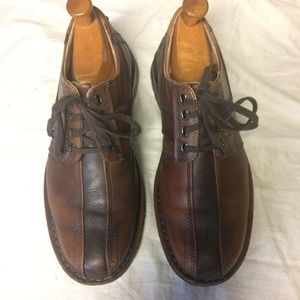 Clarks bicycle shoes brown leather 9.5